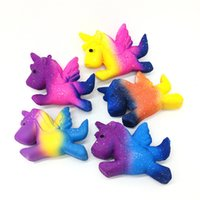 Wholesale toy horses for free for sale - Group buy 2019 Hottest Squishies Unicorn Soft scented PU Sky Fliying Horse Slow Rising Horse Decompression toy for cell phone straps DHL Free