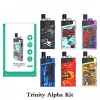 Wholesale alpha metal for sale - Group buy Trinity Alpha Pod System Kit mAh Battery with Trinity Alpha Pod ml carts Push up type Filling Cap Unique Lock Button Vape Device