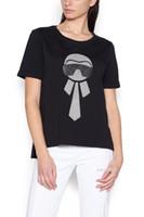 camisas do personagem de banda desenhada venda por atacado-19ss europa itália roma primavera verão impressão de prata personagem de banda desenhada t shirt moda homens mulheres de luxo t-shirt casual cotton tee top