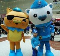 ayı kostümü satışı toptan satış-2018 Sıcak satış canlı Octonauts Film Kaptan Barnacles kwazii Kutup Ayısı Polis Maskot Kostüm Yetişkin Boyutu Ücretsiz