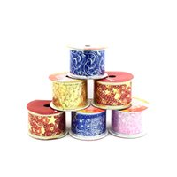 Wholesale arts crafts for christmas resale online - 1Pc Y Printing Ribbon Organza Ribbon Wedding Arts Crafts Gift Wrapping Silk Grosgrain Satin For Christmas Birthday Decor