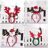 princesa natal decorações venda por atacado-Decorações de Natal chifres 22 infantis banda de cabeça linda princesa de Natal chifres banda de cabeça de Natal T3I5508