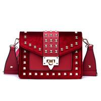 Wholesale small hand bags for ladies resale online - Designer Vintage Rivet PU Leather Handbag Brand Star Shoulder Strap Hand Bag for Women Designer Luxury Ladies Crossbody Clutch Bag