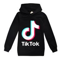 giyim kızı uzun kollu hoodie toptan satış-TikTok Çocuk Uzun Kollu Kapüşonlular Boy / Kız Genç Çocuklar Sweatshirt Ceket Kapşonlu Coat Pamuk Giyim Tops