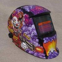 poder da máscara venda por atacado-Capacete de soldagem Soldador Welding Solar Power Auto Escurecimento Helmet Weld Grinding Mask