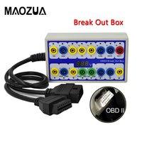 conector wifi obd2 al por mayor-Profesional Auto Car OBD 2 Breakout Box OBD2 Breakout Box OBD OBDII Protocolo Detector Detector de diagnóstico Detector