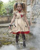 ingrosso costume fantasma dei bambini-Vampire Ragazze Costumi di Halloween per i bambini fantasma sposa di cerimonia nuziale Flower Girl strega costume Voodoo Disfraz