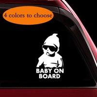 lustige reflektierende aufkleber großhandel-Baby an Bord Aufkleber Lustige nette kühle Sicherheit Vorsicht Aufkleber Zeichen für Autoscheiben und Stoßstangen