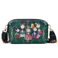 Wholesale forest green handbag for sale - Group buy good quality Women Bag Brand Design Handbag Green Forest Series Shoulder Bag Small Handbags Cartoon Print Messenger Bags Ladies
