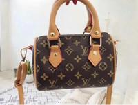 bolsas de couro antiquadas venda por atacado-Almofada de couro, flor velha, mudança de cor, bolsa feminina, saco de Boston, moda europeia e americana, mini-saco, selvagem