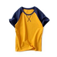 подростковые мальчики шорты оптовых-Хлопковая футболка для мальчиков Хлопковые топы Летняя детская футболка с коротким рукавом Boy 4 6 8 10 12 лет Chidlren Boy Футболки Teen Titans