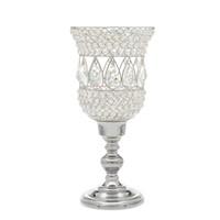 candelero de metal huracán al por mayor-Crystal huracán Vela centros de mesa titular del partido decoración de la mesa de boda