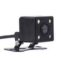 yedek şifreler toptan satış-170 derece CMOS 4 LED Araba Dikiz Yedekleme Park Kamera HD Gece Görüş Için Su Geçirmez sürücü Yol izleme araba dvr