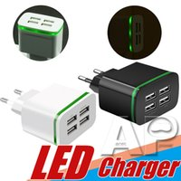 Wholesale iphone dock new resale online - 2019 NEW QC LED Wall Charger USB Quick Charge Travel Power Adapter Fast Charging EU Plug for iPhone Samsung Huawei