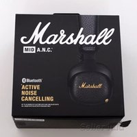 Wholesale headphones for cell phones samsung for sale - Marshall MID ANC Bluetooth Headphones Active Noise Cancelling Wireless DJ Headphone Deep Bass Gaming Headset For iPhone Samsung Smart Phone