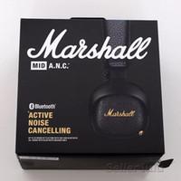 bluetooth kulaklıklar oyun toptan satış-Marshall MID ANC Bluetooth Kulaklıklar Aktif Gürültü Iptal Kablosuz DJ Kulaklık Derin Bas Oyun Kulaklık Için iPhone Samsung Akıllı Telefon