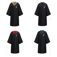 jungen kapuzenschal großhandel-Kinder Erwachsene Cosplay Mantel Halloween Harry Potter Magische Robe T-Shirts Krawatte Schal Junge Langarm Kapuzen Mantel Mädchen Cosplay Kleidung