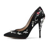 zapatos de la boda de la sandalia del oro al por mayor-Ralph Russo oro rosa 3D floral para mujer Diseñador de la boda Zapatos nupciales de seda Zapatos de tacones de eden para la fiesta de noche de bodas Zapatos de baile