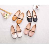 kore ayakkabı satışı toptan satış-Kızlar Tasarımcı Ayakkabı 2019 Eğilim Kore Moda Prenses Ayakkabı Yumuşak Sole Yaz Çocuk Lüks Bezelye Ayakkabı Kızlar Sıcak Satış Giymek