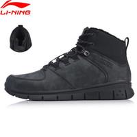 li ning zapatos al aire libre al por mayor-Li-Ning Men FLY zapatos para caminar al aire libre Cálido paño grueso y suave antirresbaladizo LiNing deporte zapatos Ocio zapatillas de deporte AHCN019 YXB245 # 5009