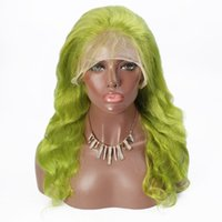 Wholesale real human hair wigs for sale - Group buy Real Human Wig Green Bodywave FulllaceWig Selling directly from Factory With Best Quality Tangle free Glueless Wig Fast Shipping