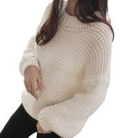 frauen lose langes hemd großhandel-OEAK Womens Fuzzy Sherpa Fleece Langarm Pullover Loose Pullover Damen Shirt Pullover