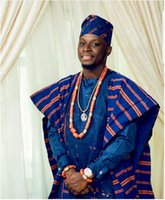 afrikanische perlenkette für männer großhandel-Trendy African 40 zoll Big Echt Perlen Brautmode Männer Korallen Halskette Schmuck-Set GroomABH409 C18122701