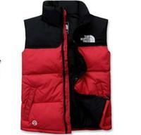 пуховая куртка оптовых-Роскошные мужчины внешняя одежда зимний жилет вниз жилет перо дизайнер куртки случайные жилеты пальто Мужские пуховики