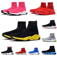 corredores vintage al por mayor-2019 nuevo diseño del calcetín de lujo velocidad de calzado transpirable zapatillas de deporte del instructor Negro Vintage rosado rojo del brillo gimnasia gris Carrera Participantes Calzado deportivo Casual
