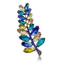 Wholesale cake tongs for sale - Group buy 2019 Broche New Summer Han Edition Color Leaf Brooch Chain scarves Buckle High grade Corsage Pin Speed Sell Tong Like Hot Cakes