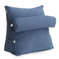 travesseiro de apoio lombar para as costas venda por atacado-Triângulo Sofá Almofada Voltar Pillow Bed Encosto Cadeira de Escritório Apoio Almofada Almofada Da Coxa Espreguiçadeira TV Reading Lumbar Home Decor