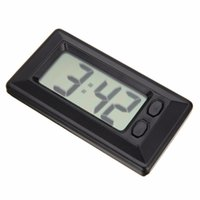 Wholesale lcd dashboard for car resale online - LCD Digital Clock Desk Date Time Ultra Thin Car Dashboard Digital Calendar Clock for Car Motorcycle Accessory