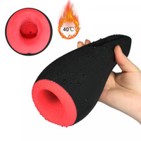 juguete masculino de calefacción al por mayor-Calefacción automática Masturbador masculino mamada oral Suck lamiendo coño máquina vibradora Sex Toys Aviones de coches Revestimiento