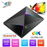 Wholesale android media player iptv resale online - 1 M9S Z8 Android TV BOX GB GB GB GB Allwinner H6 Quad core G Wifi K K TV BOX Youtube IPTV Media Player PK S905X2