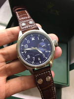 mekanik askeri saatler toptan satış-Sıcak hediye Üst marka lüks erkek izle IW Büyük sinek serisi IW500916 IW500909 Portekiz 7 pilot Mekanik otomatik moda askeri Saatı