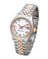 Wholesale womens watches gift boxes resale online - 2019 Hot sale Luxury Lady Watch Diamond mm Pink Dial Rose Gold Stainless Steel Automatic Womens Watches Wristwatch with gift box