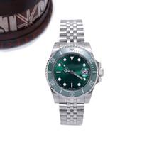 chaîne de montre mens achat en gros de-2019 Nouvelle montre de luxe SAbmerinar lunette en céramique mens montres 40mm cadran exquis Automatique Montres Mécaniques chaîne en acier inoxydable