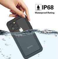 ingrosso caso di copertura id-Redpepper al dettaglio per iPhone11 Pro max IP68 Custodia impermeabile Shock / polvere / Snowproof Protezione Con tocco ID 360 Copertura