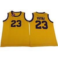 camiseta de baloncesto color amarillo al por mayor-Camiseta Martin para hombre Martin Payne # 23 Jersey de baloncesto Color Amarillo Martin Lawrence Todas las camisetas de baloncesto cosidas S-XXL