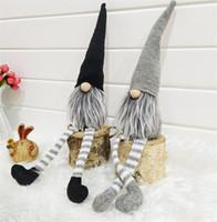 ingrosso vecchi alberi di natale-Natale berretto a righe senza volto bambola svedese Nordic Gnome Vecchio bambole giocattolo Albero di Natale Pendente decorazione domestica DC946