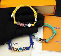 cordas de cor de qualidade venda por atacado-Marca de luxo de qualidade Cores contas desejam corda pulseira em amarelo verde azul cor de laranja para as mulheres night club pulseira PS6335