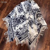 lenços chineses mulheres venda por atacado-Top Four Seasons Mulheres Homens de alta qualidade Cashmere Scarf macia Moda Estilo Chinês Printi Scarf Longo clássico Tassel Xaile com saco de papel