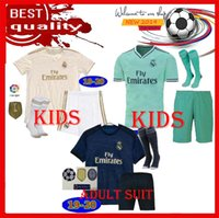 Wholesale ship jersey real madrid resale online - Real Madrid Soccer Jersey home away Green white blue adult soccer shirt KROOS madrid kids kit Football uniforms