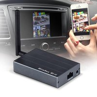 Wholesale airplay iphone resale online - Car Wireless Mirabox WiFi AirPlay MiraCast for iPhone Android Screen Mirroring to Car Stereos