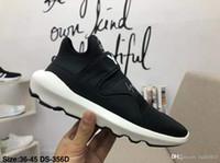 y3 zapatos para hombre al por mayor-2019 Y-3 de alta calidad puro diseñador para hombre Primeknit ZG Kint Triple blanco negro zapatillas Casul Shoes Y3 zapatos puros zapatos deportivos tamaño 36-45