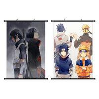 ingrosso tela di pittura moderna giapponese-Litchi Anime giapponese NARUTO Itachi Uchiha Poster da parete Canvas Scroll Painting Home Wall Print Modern Art Decor Poster