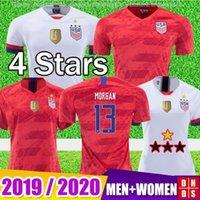 ingrosso ragazze stella superiore-TOP Thailandia 2019 America Home away USA Soccer Jersey Ragazza Donna 4 stelle KRIEGER LLOYD RAPINOE MORGAN Maglie USA uomini Maglie calcio Bambini