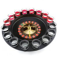 roleta russa venda por atacado-Engraçado Simples Russa Spinning Roleta Copo De Vinho Jogo Kit Para KTV Pub Night Club Beber Roulette Set Design Exclusivo