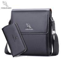 Wholesale briefcase wallet resale online - wallet bag Men Messenger Bag Shoulder Bag Business Briefcase Crossbody Bag
