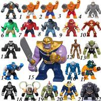 figuras de veneno venda por atacado-Big Decool Thanos Grande Anti Veneno Riot Carnage Lanterna Verde Hulk Buster Goblin Coisa de Construção Figuras de Bloco de Brinquedo Para As Crianças